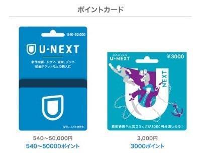 U-NEXTポイントカード